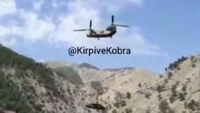 Photo of Mecburi iniş yapan helikopteri Chinook taşıdı