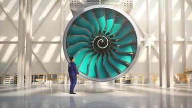 Photo of Rolls Royce'tan 355 cm'lik fana sahip jet motor