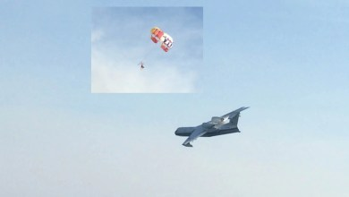 Photo of Paraşüt yangın söndürme uçağının önüne çıkarsa….