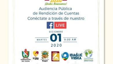 Photo of Así será la rendición de cuentas de la Alcaldía de Ibagué, Gobernación y Cortolima
