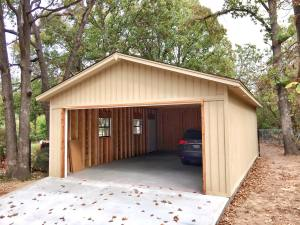 This is a garage that is detached from the main house we built in Broken Arrow