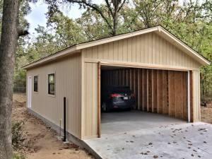 Detached Garage we built for Customer in Tulsa