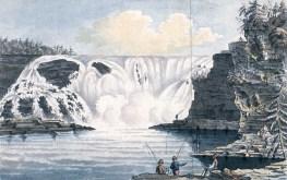 Les chutes Montmorency vers 1781