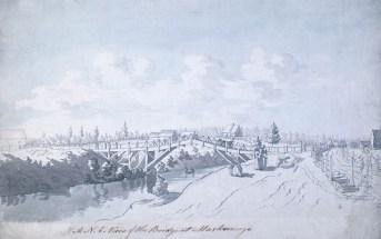 Vue du pont de Maskinongé, v. 1783