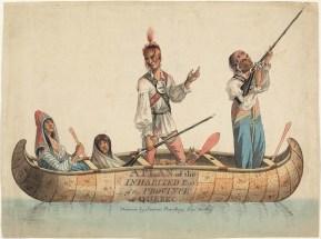 Groupe d'Amérindiens, vers 1785