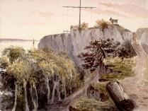 Ce qui ressemble à une croix en haut de l'image est le mât du télégraphe. C'est à cet endroit que sera érigé la croix celtique construite en 1909.