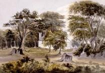 Bâtiments de ferme sur la Grosse-Île occupés par Pierre Duplain avant l'établissement de la station de quarantaine en 1832