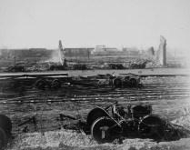 Station du Canadian Pacific Railway après le feu. No MIKAN 3191511 BAC
