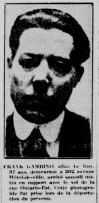Frank Gambino. La Patrie, 28 avril 1924