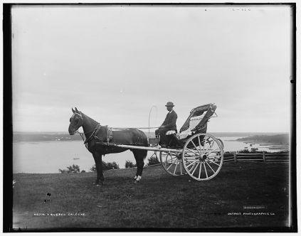 Une calèche à Québec, v. 1900 / A Quebec caleche, Quebec
