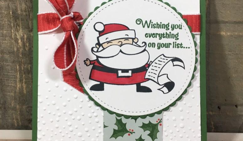 Signs of Santa Christmas Card