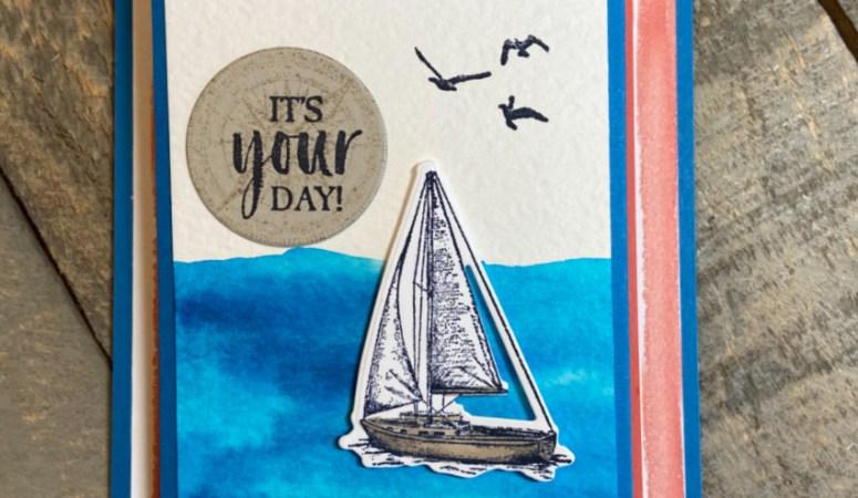 Sailing Home Accordion Gift Card Holder