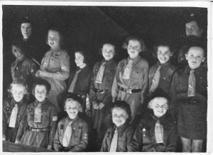 Tollerton Brownies about 1953 with Brown Owl (Mrs Stirland)