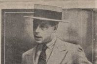Prince of Wales in straw boater