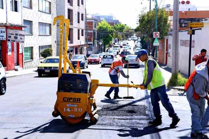 Bacheo y repavimentación en Toluca, Primer Informe de Gobierno