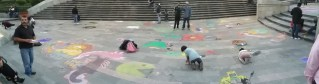 Arte en la Plaza José Ma. González Arratia.