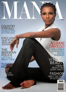 That African Queen  Agbani Darego Is Smoking Hot  For Style Mania     Former Miss World  2001  and fashionpreneur  Agbani Darego covers November  2014 issue of Style Mania Magazine in a lovely white top and cute jean