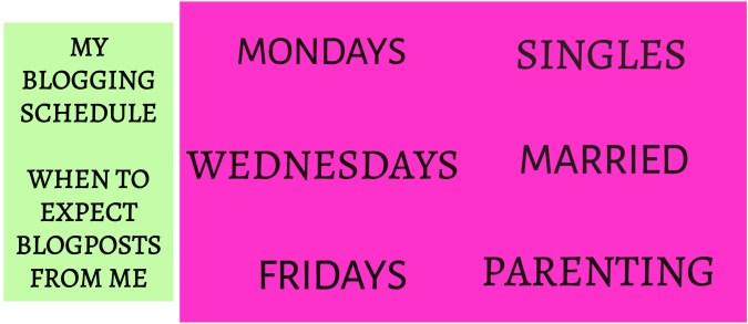 Blogging Schedule post