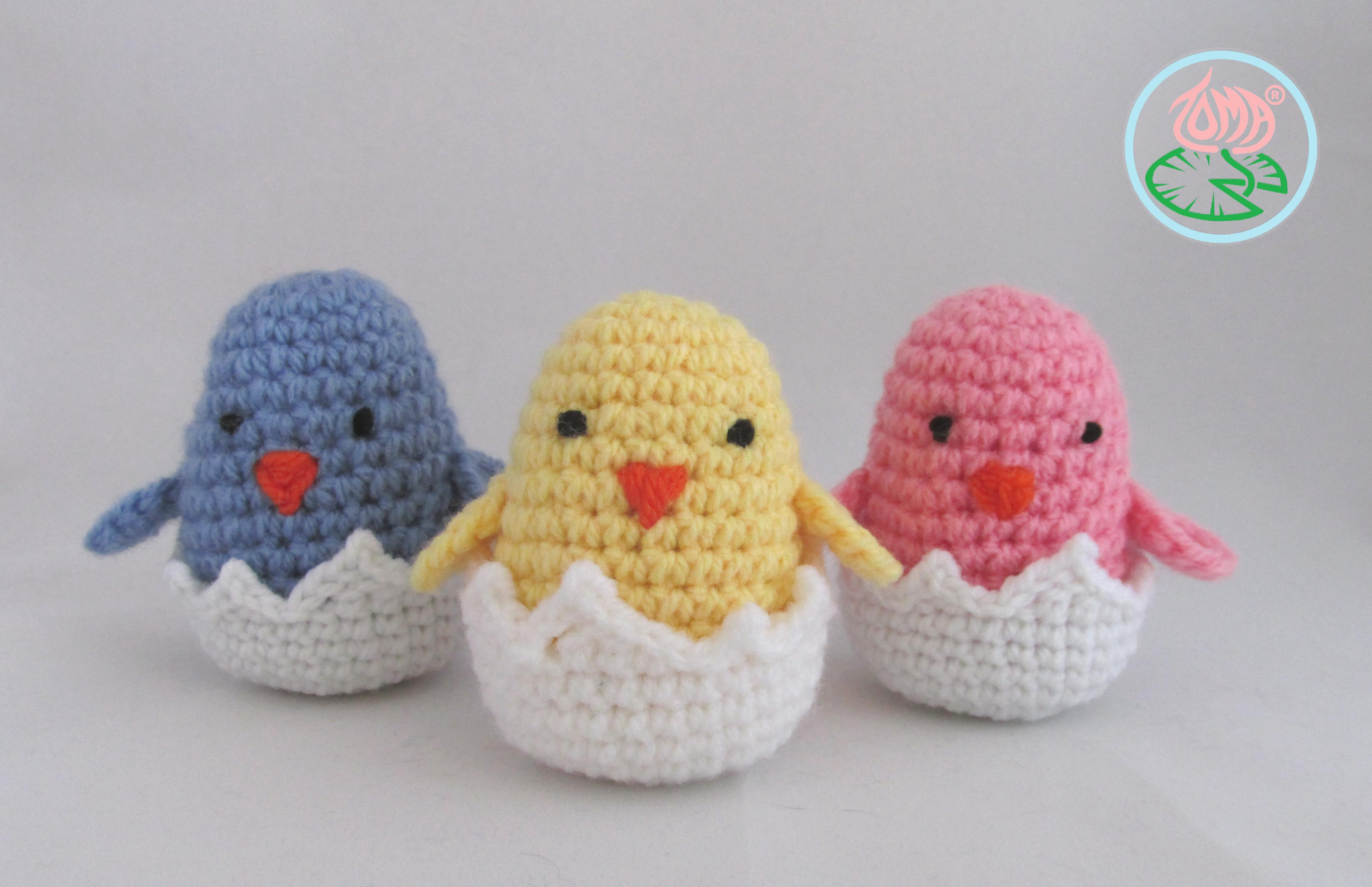 Free Pattern Amigurumi Hatching Easter Chicks