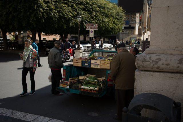 Taormina, Sicily. Fruit Seller from a van