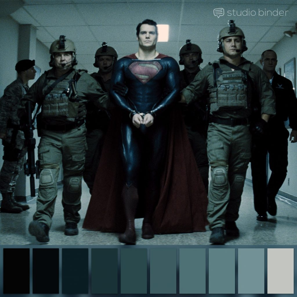 Zack Snyder - Man Of Steel. Color Pallete Courtesy of Studio binder to aid Color Grading