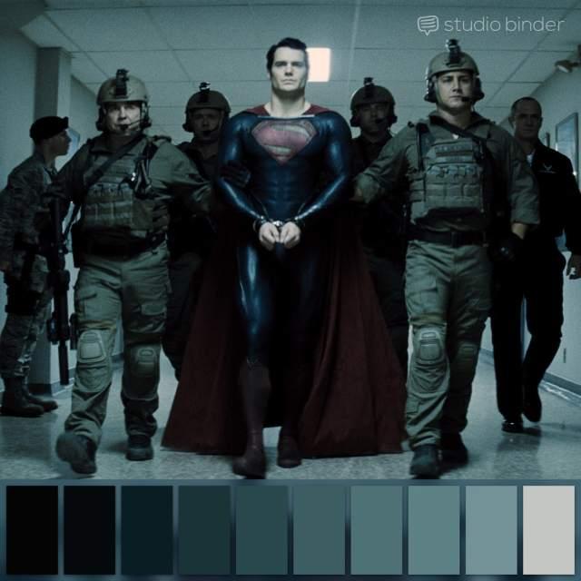 Zack Snyder - Man Of Steel. Color Pallete Courtesy of Studio binder to aid Color Grading