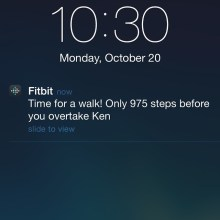 Ha. No, it is time for bed not time for a walk, Fitbit. by RK Bentley (CC BY-NC-ND 2.0)