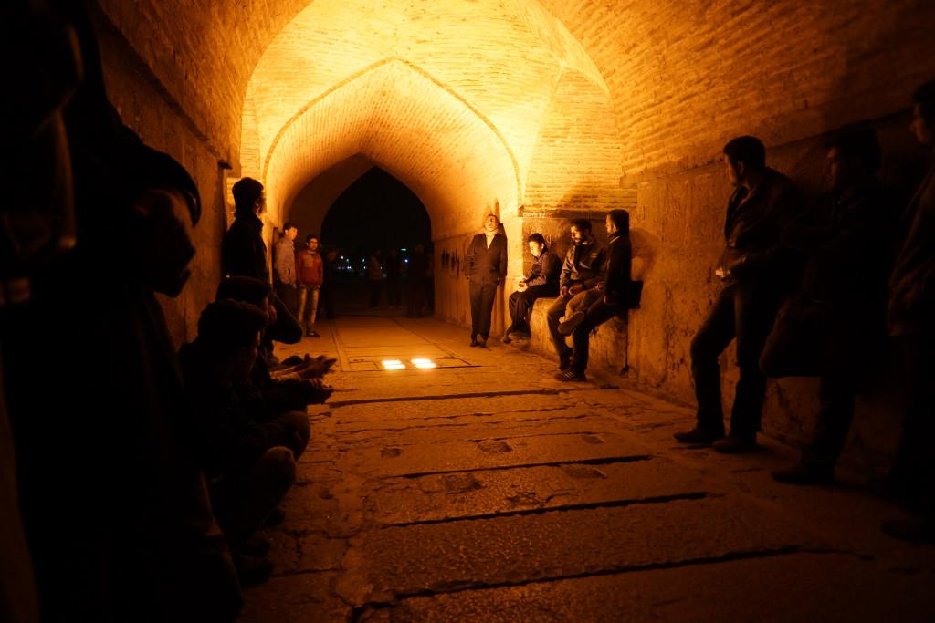 Singers under Siosepol in Esfahan