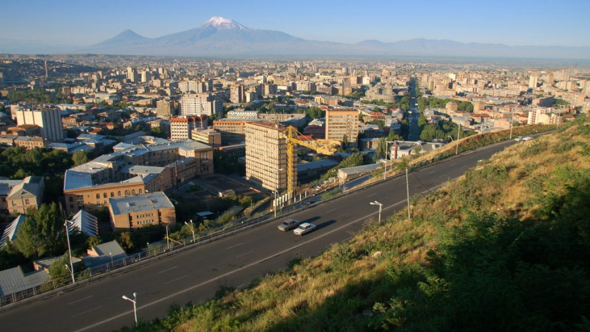 Sunrise over Yerevan