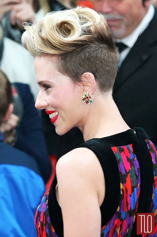 Scarlett Johansson In Balmain At The Avengers Age Of