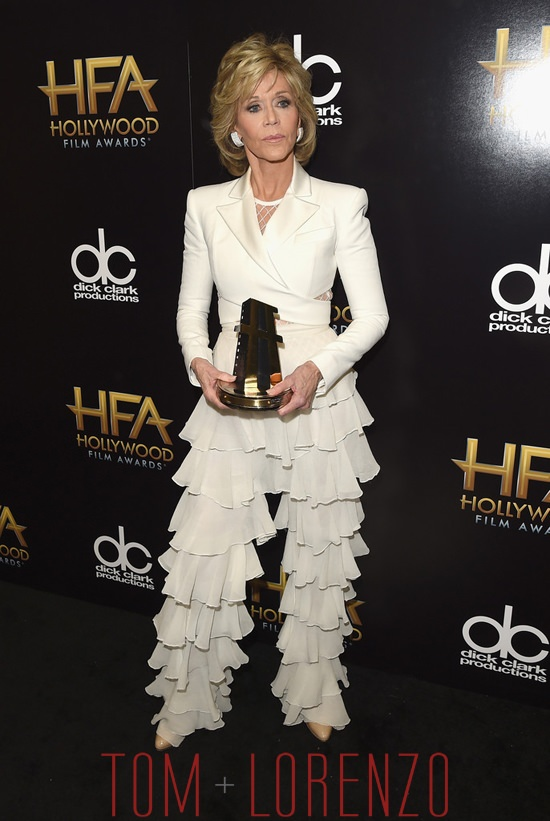Jane Fonda In Balmain At The 2015 Hollywood Film Awards