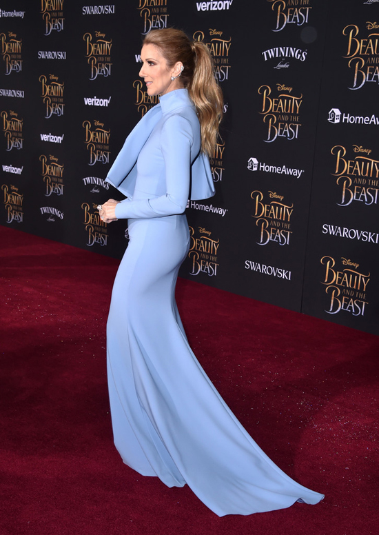 Image result for celine dion beauty and the beast premiere
