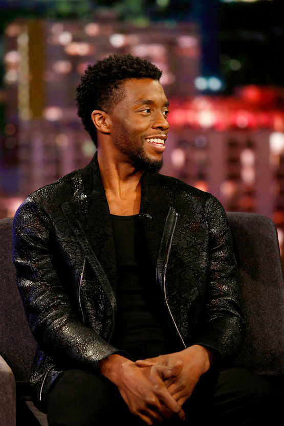 Chadwick Boseman Stays In Black Panther Style On Jimmy