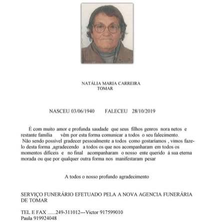 NATALIA MARIA CARREIRA