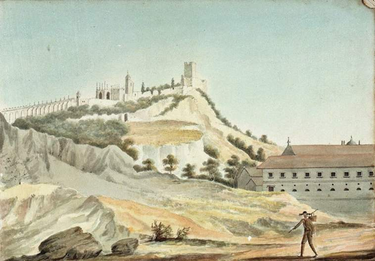 View of Castle and Convent of Tomar William Innes Pocock 1783 1836