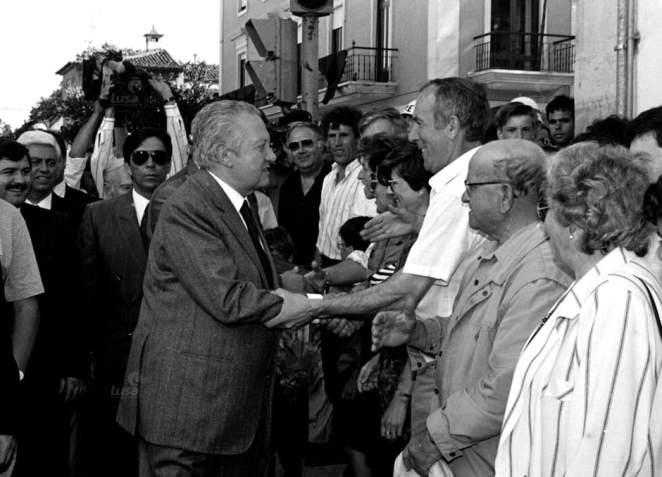 Mario Soares em Tomar 9 6 1991