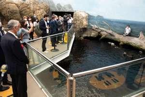 Oceanário de Lisboa recebeu a visita do Presidente da República