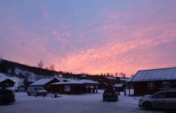 Solnedgång över Kungsberget