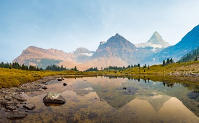Mount Assiniboine Tarn Reflection