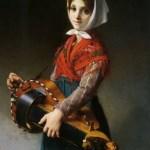 The Hurdy Gurdy Girl, 1879. Jules Richomme, 1818-1903