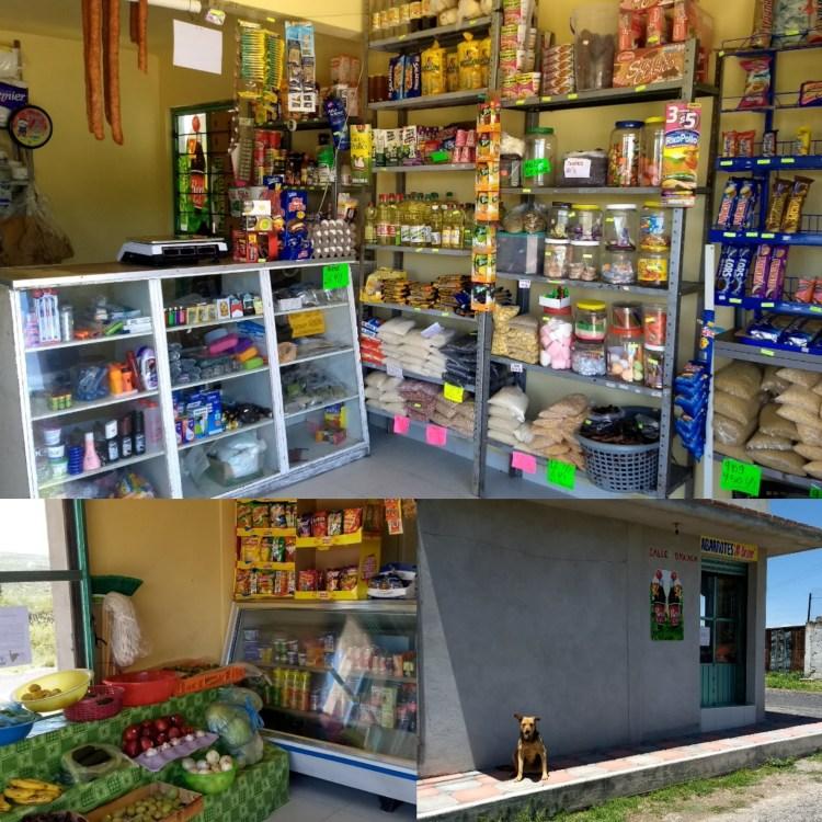 Images of store in Tecajique, Hidalgo.