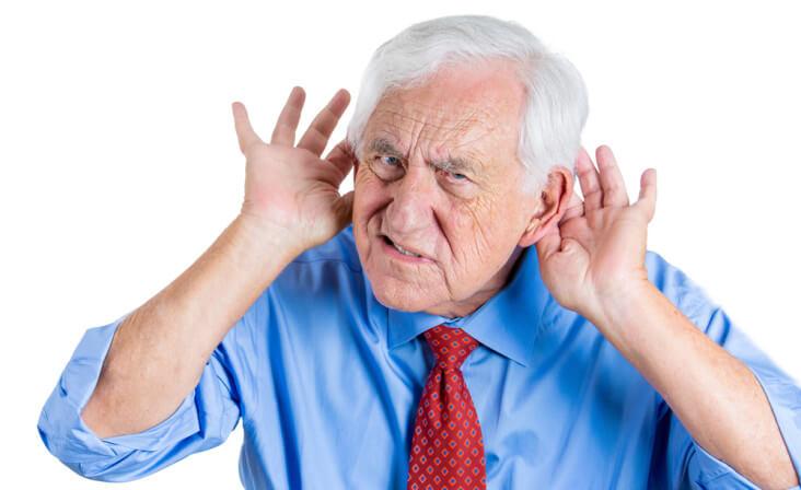 Hard of Hearing man