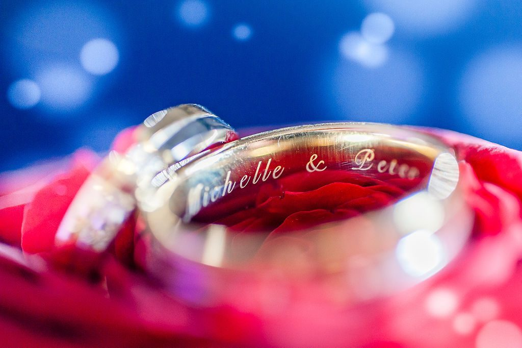 Wedding rings wedding details blue and red wedding detail