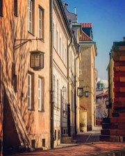 Along the battlements, Warsaw Old Town