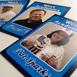 West Academics baseball card deck