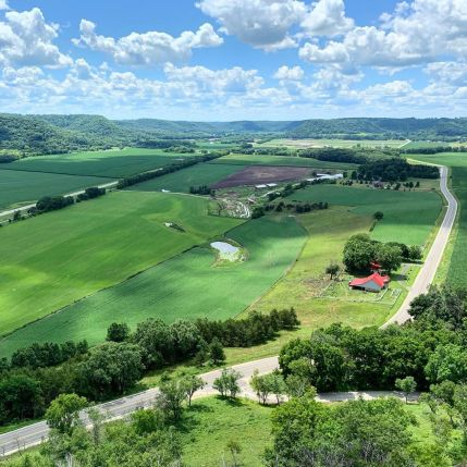 """Overlooking a valley in Minnesota's """"Driftless Zone"""""""
