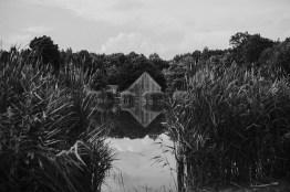 łysy młyn panorama pocztówka czarno białe