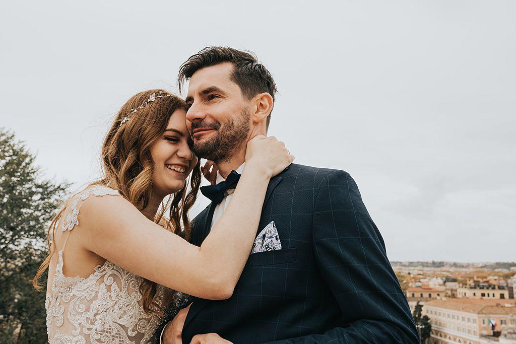 Terrazza del Pincio sesja ślubna w rzymie fotografia ślubna poznań twardowski rome italia włochy