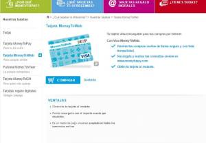 tarjeta de prepago money toweb