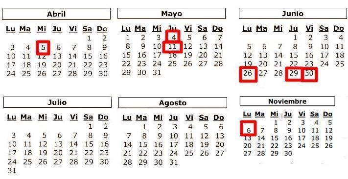 calendario renta 2016 fechas clave